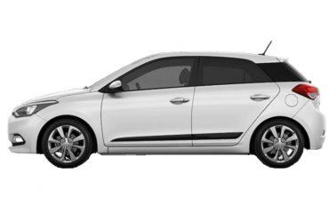 Hyundai i20 white 1.400cc